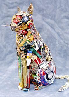 Animal Sculptures Made of Junk