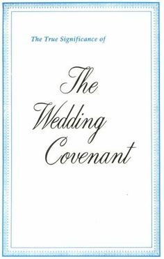 The True Significance of the Wedding Covenant by IBLP, http://www.amazon.com/dp/B001BZKC7Y/ref=cm_sw_r_pi_dp_3bRfrb07MNSEY