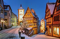 The storybook village of Rothenbürg is found along Bavaria's Romantic Road and enchants its visitors at Christmastime and throughout the year.