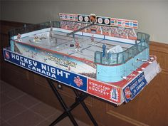 Vintage 1962 Eagle Toys Hockey Night in Canada table hockey game in Original Box
