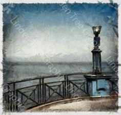 The Old Spa Whitby - Printable Digital Download 11x10 inch Photographic Derived Image by LindenTreeGraphic for $5.00