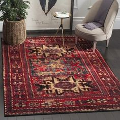 Shop for Safavieh Vintage Hamadan Traditional Red/ Multicolored Distressed Rug (4' x 6'). Get free shipping at Overstock.com - Your Online Home Decor Outlet Store! Get 5% in rewards with Club O! - 19460023