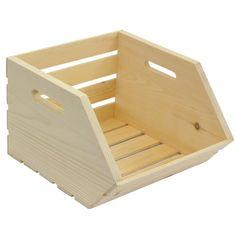 Crates & Pallet - Vegetable Crate - Storage Bins and Boxes Wood Storage Box, Crate Storage, Storage Bins, Diy Storage, Pallet Crates, Wood Crates, Wood Pallets, Pallet Wood, Fruit And Vegetable Storage