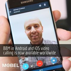 BBM in #Android & #iOS video calling is now available worldwide #Blackberry10