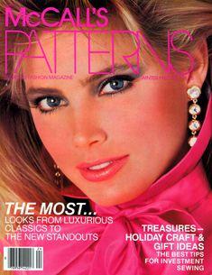 Kelly Emberg 1980s Makeup, Makeup Ads, Kelly Emberg, Kelly Lebrock, Patti Hansen, Napier Jewelry, Vogue Covers, Mccalls Patterns, Vintage Magazines
