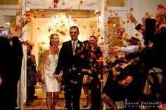 Fall leaves getaway for a fall wedding