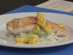 Seared Mahi-Mahi with Mango Sauce and Fragrant Rice Recipe : Robert Irvine : Food Network - FoodNetwork.com
