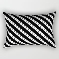 "Our Rectangular Pillow is the ultimate decorative accent to any room. Made from 100% spun polyester poplin fabric, these ""lumbar"" pillows feature a double-sided print and are finished with a concealed zipper for an ideal contemporary look. Includes faux down insert. Available in small, medium and large. #pillow #throwpillow #goth #dark #emu #homedecor #blackandwhite #spinal #stripes"