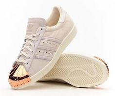 the latest 57872 71704 Adidas Originals Superstar 80s Metal Toe W Beige Off White Rose Gold  Women s 8.5