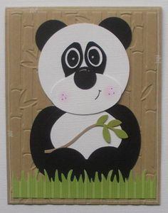 Jungle Buddies (Panda) punch art by HopePackages - Cards and Paper Crafts at Splitcoaststampers