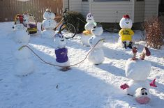 The Herceg family's first place entry in the Snowman Competiton - Stephen Dafoe Photos