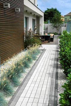 Side Yard Landscaping, Backyard Patio Designs, Modern Landscaping, Landscaping Ideas, Modern Garden Design, Garden Landscape Design, Modern Landscape Design, Contemporary Garden, Outdoor Gardens