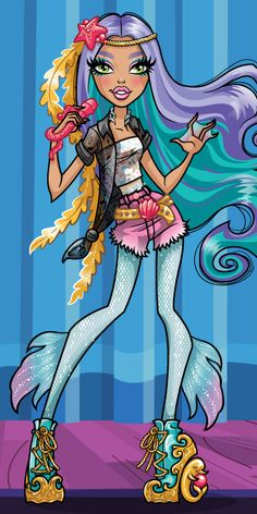 """Madison Fear is a Monster High character and doll created in honor of singer, Madison Beer, who sang the Monster High webisodes' theme song, """"We Are Monster High."""" Mattel presented the singer with the custom one-of-a-kind doll in 2014. The character, Madison Fear, is a siren who loves to sing. She can't help but burst into song on just about any occasion. As a siren, she uses her voice to guide monsters from the storms of life."""