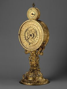 Mirror Clock, crafted in Germany c. 1570 (via The Metropolitan Museum of Art)