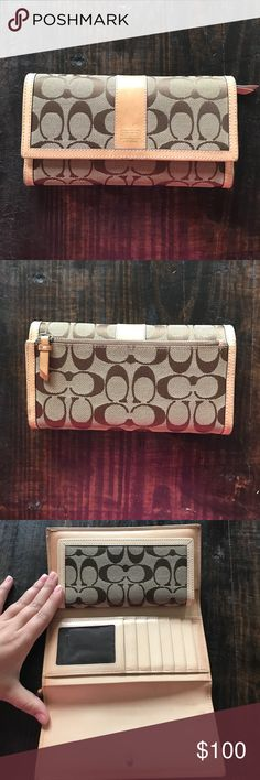 9b34206f9fc Coach Wallet With Check Book Holder