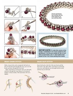 Beaded beads tutorials and patterns, beaded jewelry patterns, wzory bizuterii koralikowej, bizuteria z koralikow - wzory i tutoriale - SalvabraniBead crochet pattern for Bracelet BanglesKUFER with artistic handicraft: Koralikowo - patternsThis Pin wa Bead Crochet Patterns, Bead Crochet Rope, Seed Bead Patterns, Beaded Bracelet Patterns, Beading Patterns, Beaded Crochet, Art Patterns, Crochet Bracelet, Knitting Patterns