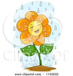 illustrations of flowers in rain - Google Search