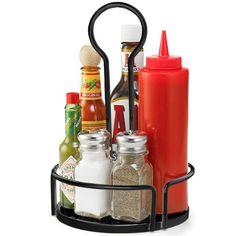 Versa Condiment Rack Black 18.5cm | Table Tidy, Condiment Holder: Amazon.co.uk: Kitchen & Home