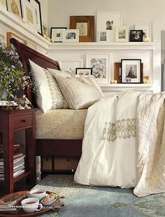 Saw this in the Pottery Barn catalog- LOVE the picture ledges! These would be super easy to DIY.