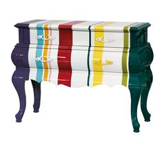Bold stripes give this chest new life  - Give New Life to Old Furniture With Paint