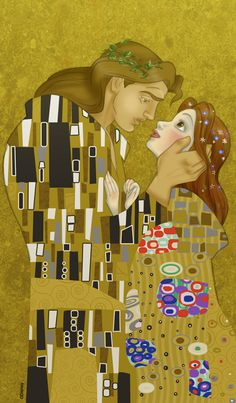 Klimt's Beauty and the Beast by ~Francy035b on deviantART ABSOLUTELY BREATH TAKING for beauty and the beast lovers