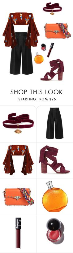 """""""Başlıksız #998"""" by gubse-oz ❤ liked on Polyvore featuring Diego Percossi Papi, Martin Grant, Raye, Valentino, Hermès and NARS Cosmetics"""
