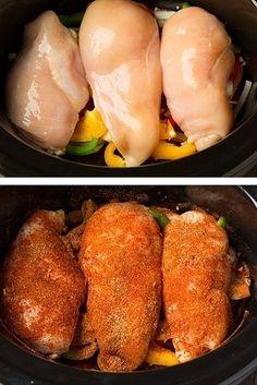 Slow-Cooker Chicken Fajitas | 15 Crock-Pot Recipes That Are Actually Healthy