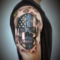 50 Thin Blue Line Tattoo Designs For Men