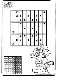 Sudoku Ausmalbilder Pirat Puzzle