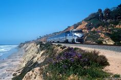 Amtrak's Pacific Surfliner. Start at San Luis Obispo. Stop at San Juan Capistrano, San Clemente and San Diego. 9 hr on train. Stellar ocean view from west side of train.