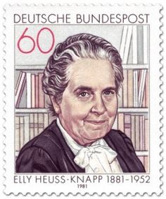 Elly Heuss-Knapp: It is the German Federal President of FIRST WOMAN. She was THE FOUNDER and PATRON of the GERMAN MOTHERS RECOVERY WORKS. MÜTTERGENESUNGSWERKES.