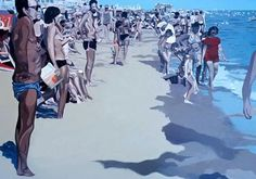 Dutch Artist Fred van der Wal and His Beach Paintings – if it's hip, it's here 29 December, The 5th Of November, October 2014, Beach Paintings, Wale, Dutch Artists, Swimming Pools, Mixed Media, Fine Art