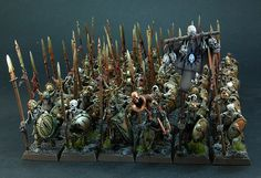 Some times more is better. This is a unit of 60 skeletons painted by Jarret Lee.