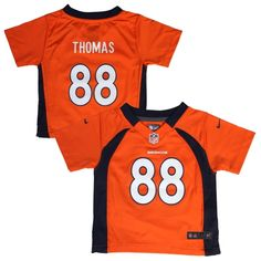 Nike Demaryius Thomas Denver Broncos Toddler Game Jersey – Orange