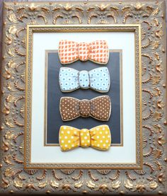 Arty McGoo: Little Man Baby Shower Cookies---bow ties are cool! (and these bow tie cookies for a baby shower are just adorable) Bow Tie Cookies, Man Cookies, Drop Cookies, Cute Cookies, Royal Icing Cookies, Cupcake Cookies, Sugar Cookies, Cupcakes, Baby Shower Sweets