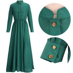 DRESS GREEN:UK SIZE 8:DELIVERY IS 1-3 DAYS