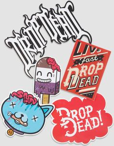 Drop Dead Mascot vinyl sticker pack VERY RARE!!!