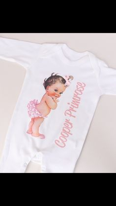 personalised vintage style baby grow with name available at www