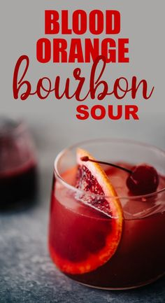 A blood orange cocktail is the perfect celebration of winter's best cocktail flavors. Embrace the bitter notes of fresh blood oranges paired with smokey, sweet bourbon in this blood orange bourbon sour. Winter Cocktails, Thanksgiving Cocktails, Bourbon Cocktails, Whiskey Drinks, Christmas Cocktails, Blood Orange Cocktail, Blood Orange Margarita, Sour Cocktail, Cocktail Drinks