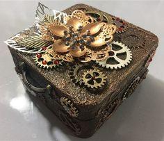 Miniature Steampunk Altered Box by Monica Roca– ButterBeeScraps
