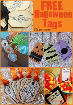 FREE Halloween Tags!! Over 10 different Halloween tag printables!! { lilluna.com }