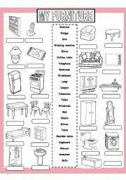 Resultado de imagen para download furniture images vocabulary