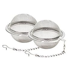 Amazon.com: Fu Store 2pcs Stainless Steel Mesh Tea Ball 2.1 Inch Tea Infuser Strainers Tea Strainer Filters Tea Interval Diffuser for Tea: Kitchen & Dining