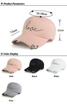 2017 New arrival high quality snapback cap iron hoop bead on visor love  embroidery hat for women baseball cap 746729676e04