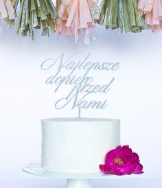 Najlepsze dopiero przed nami... uroczy topper na tort ślubny :)  Do kupienia w sklepie internetowym Madame Allure!
