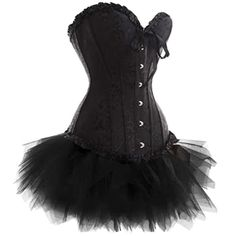 Black Brocade Corset with Tutu | Burlesque Outfits | Burlesque Costumes