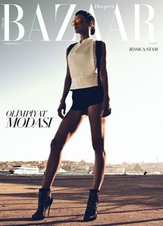 Jessica Stam for Harper's Bazaar Turkey July 2012 by Koray Birand