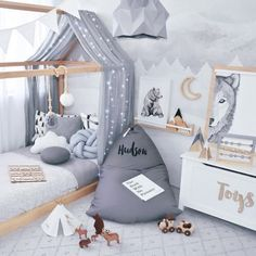 kleinkind zimmer We deeply hope these 80 Most Lovely And Funny Room Decoration Ideas For Kids Best Memory be your favorite choice . We hope you love it and save it. Diy Toddler Bed, Toddler Rooms, Baby Boy Rooms, Baby Bedroom, Baby Room Decor, Nursery Room, Kids Bedroom, Bedroom Decor, Bedroom Ideas