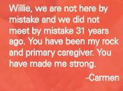 Carmen gives a shout out to Willie #inspiration
