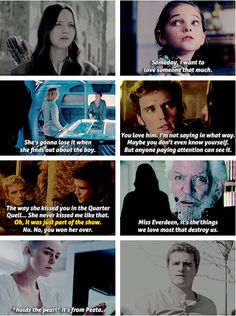 EVERYONE KNOWS. EVERYONE KNOWS EXCEPT PEETA, UNTIL THE END